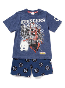 Navy Disney Marvel Avengers Pyjama Set (3-12 years)