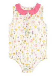 Multicoloured Floral Bodysuit (0 - 24 months)