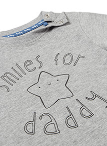 Grey Daddy Printed T-shirt (0-24 months)
