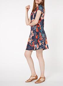 Multicoloured Floral Tunic