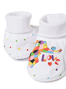 White Elmer Booties (0-24 months)
