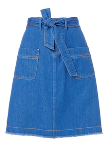 Bright Blue Belted Skirt