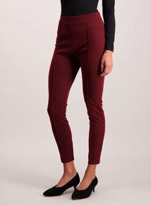 Burgundy Sparkle Leggings