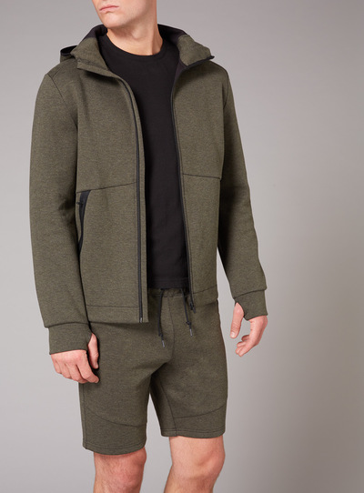 Admiral Khaki Zip Through Hoodie