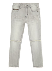 Grey Ripped Knee Jean