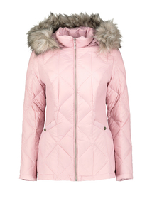 Online Exclusive Pink 3 Tog Feather And Down Padded Jacket