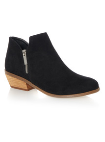 Low Dip Western Ankle Boots