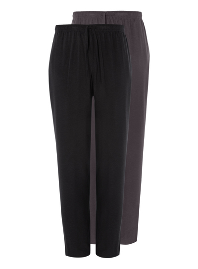 Black & Charcoal Jersey Lounge Trousers 2 Pack