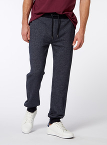 Online Exclusive Russell Athletic Navy Grindle Ribbed Jogger