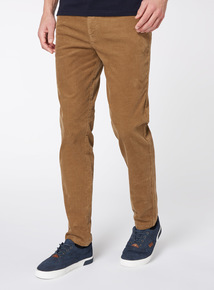 Online Exclusive Stone Slim Fit Cords With Stretch