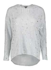 Heart Foiled Pyjama Hooded Top
