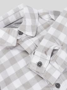 Grey Long Sleeve Check Shirt (0-24 months)