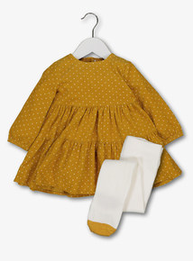 Yellow Dress & Tights Set (0-24 Months)