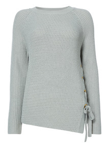 Eyelet Side-Tie Jumper