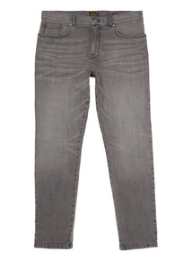 Grey Tapered Stretch Jeans