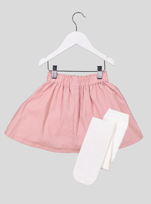 Pink the Gruffalo Skirt With Tights Set (9 months-6 years)