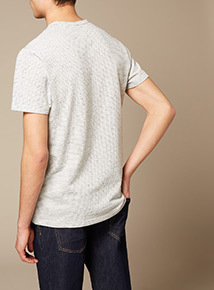 Premium White Block Stripe T-shirt