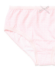 10 Pack Pink Heart Briefs (1.5-12 years)