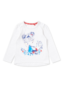 Multicoloured Girl Print Top (0-24 months)
