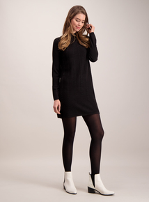 Black Cable Knit Swing Tunic