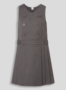 Grey Permanent Pleat Dress (3-12 years)