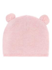 Girls Pink Cat Ear Hat (0-24 months)