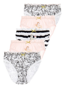 Beauty And The Beast Briefs 5 Pack (1 - 8 years)