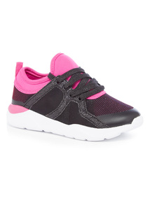 Lace Up Sparkle Trainers (10 Infant - 4)