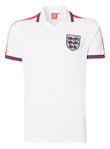 Exclusive England Retro White Football Jersey