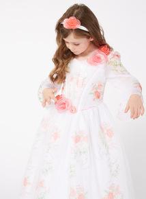 White Disney Belle Movie Celebration Dress (3-12 years)