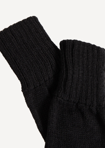 Black Knitted Fingerless Gloves