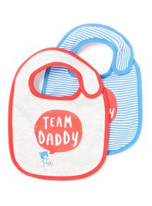 2 Pack Team Mummy & Daddy Bibs