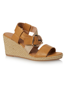 Sole Comfort Rafia Wedge Sandals