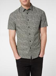 Black Chaos Print Slim Fit Shirt