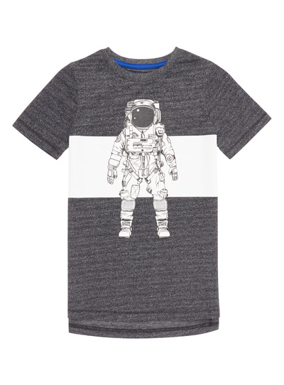 Grey Spaceman Tee (3-14 years)