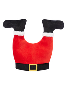 Red Novelty Santa Legs Hat With Sound