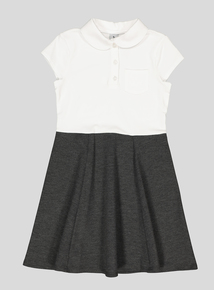 Grey Jersey Peter Pan Collar Dress (3-12 years)