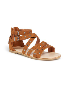 Light brown Stud Sandals