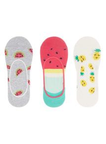 Tropical Footsie Socks 3 Pack