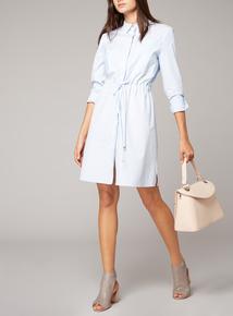 Premium Pinstripe Shirt Dress