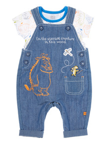 Boys Navy Gruffalo Dungarees And Bodysuit (0-24 months)