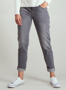 Grey Girlfriend Jeans