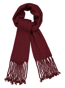 Berry Red Glitter Knit Scarf