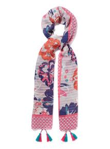 Floral Stripe Print Scarf