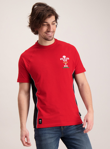 Welsh Rugby Union Red Crew Neck T-Shirt
