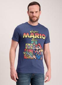 Super Mario Bros. Navy Crew Neck T-Shirt
