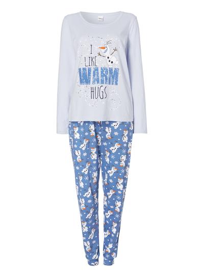 7d6b0b20c Womens Light Blue Disney Frozen Hugs Pyjama Set