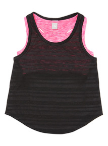 Pink  2 Layer Dance Top (3-14 years)