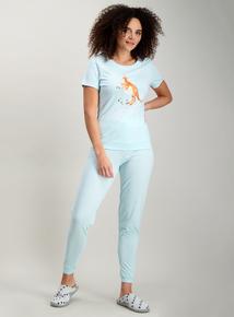 Blue Mother s Day Kangaroo Print Pyjamas 55ace7c7c
