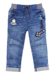 Blue Applique Jean